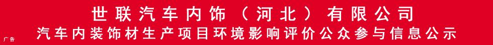世联汽车内饰(河北)有限公司汽车内装饰材生产项目环境影响评价公众参与信