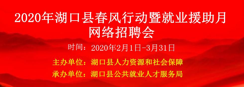 2020年湖口县春风行动暨就业援助月网络招聘会