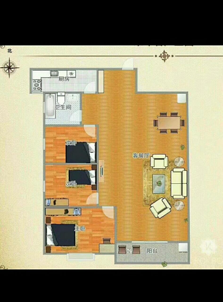 七彩世界3室1厅1卫34万元