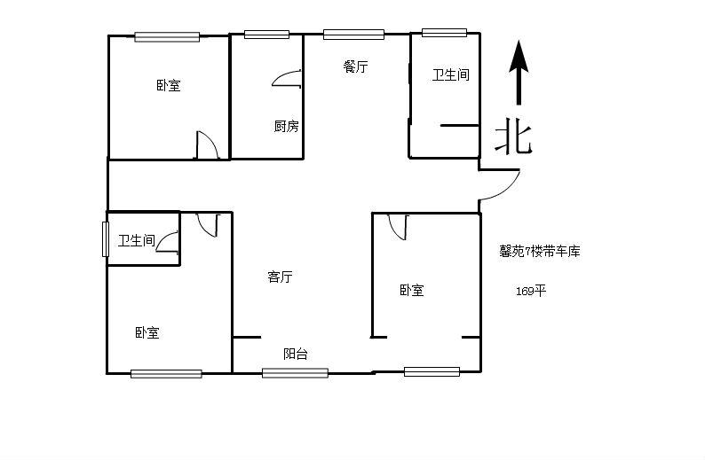 馨苑小区7楼车库3室2卫115万