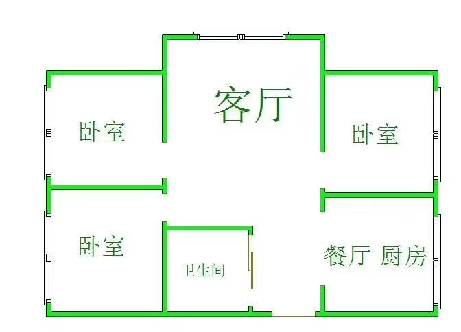 中坤小區3室2廳1衛33萬元