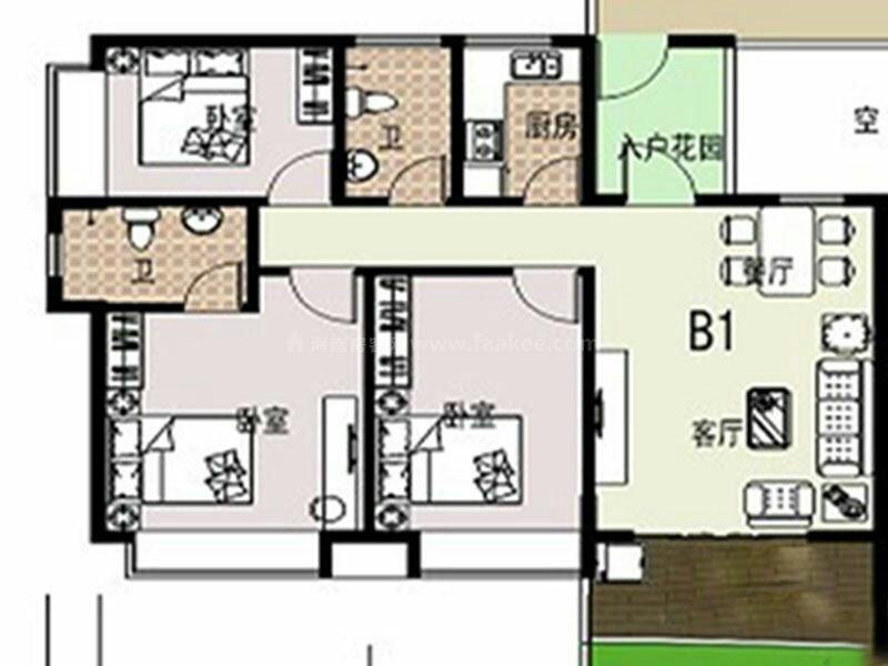 盛世皇冠毛坯三房仅售6500一平,中高楼层