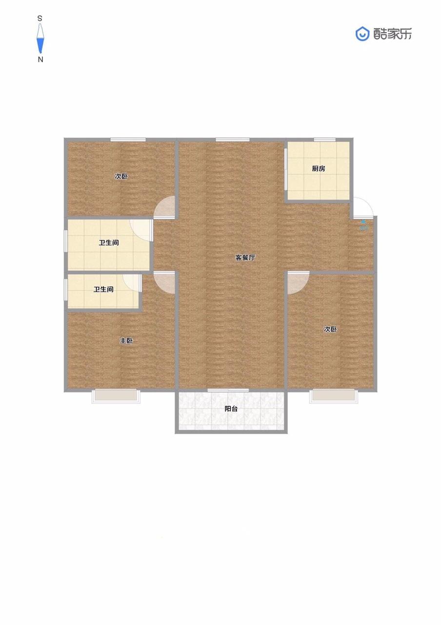 汇景雅苑电梯房4楼3室2厅2卫毛坯房73万