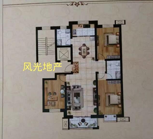 頤和綠洲3室2廳2衛4900一平簡裝