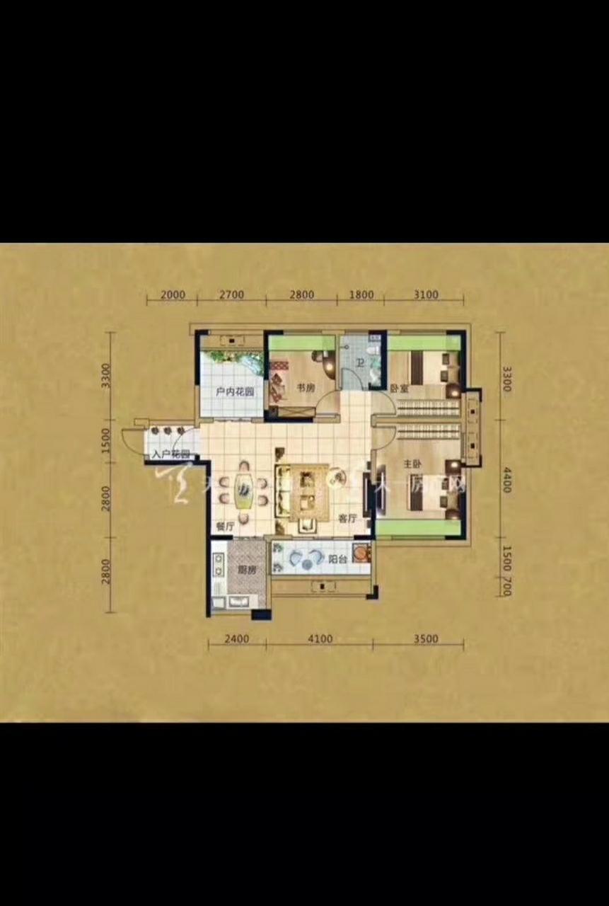 海南儋州亚澜湾3室2厅1卫76万元