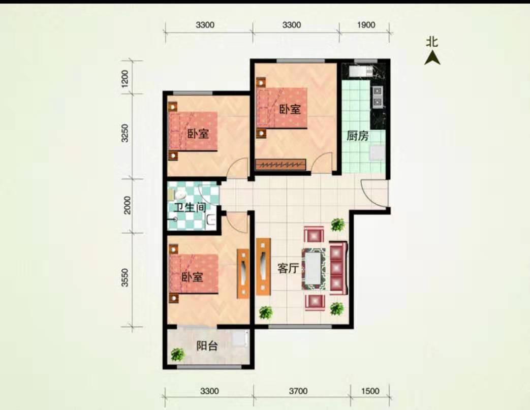 尚河名郡3室1厅1卫75万元