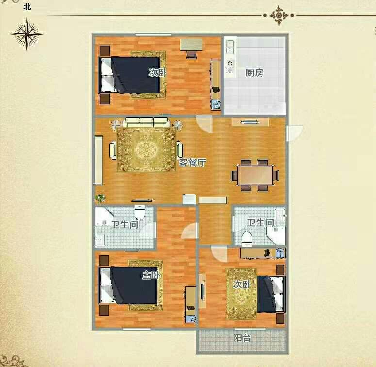 荣联尚东城3室 2厅 2卫56万元