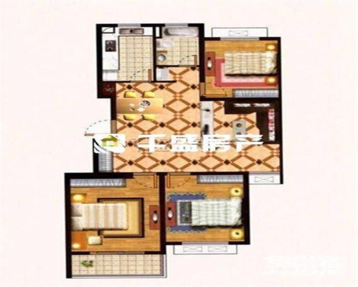 宁湘房产好房源香缇郡3室 2厅 1卫138万元