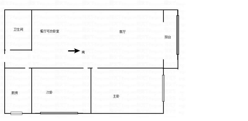 华彬春园2室 2厅 1卫