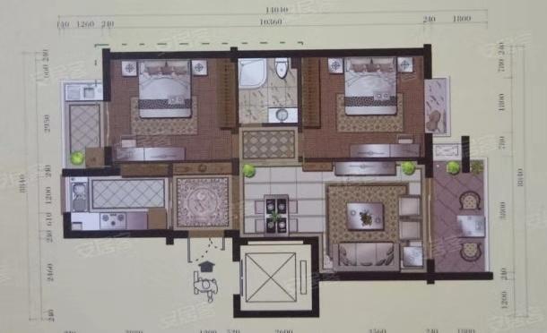 太阳城2室 1厅 1卫43.8万元