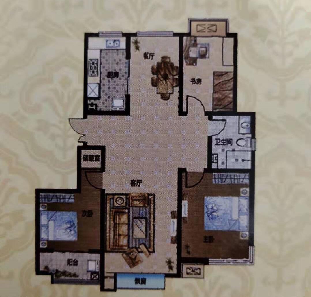 金山新苑3室 2厅 129平92万元