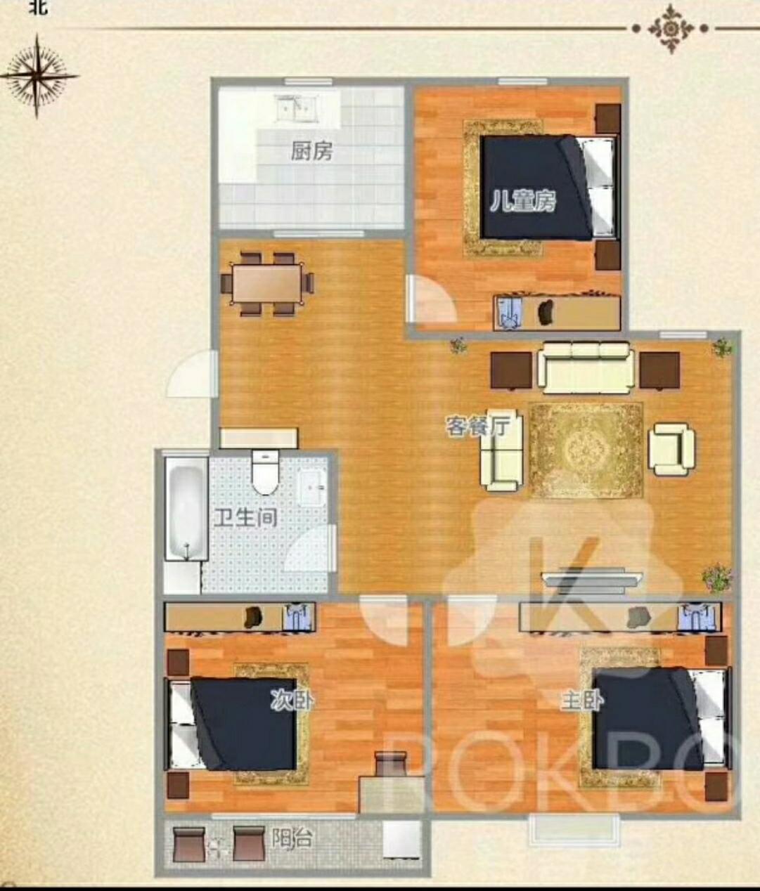 玉衡星居3室 2厅 1卫37万元