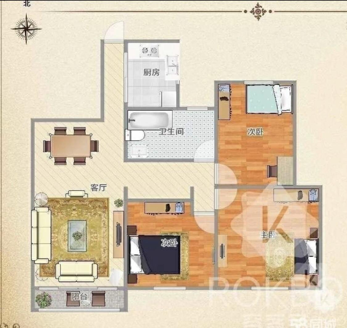 帝景公馆3室 1厅 1卫31万元