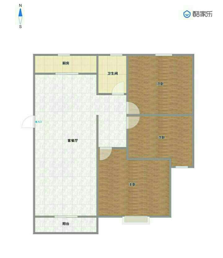 世纪名城2室 2厅 1卫48万元