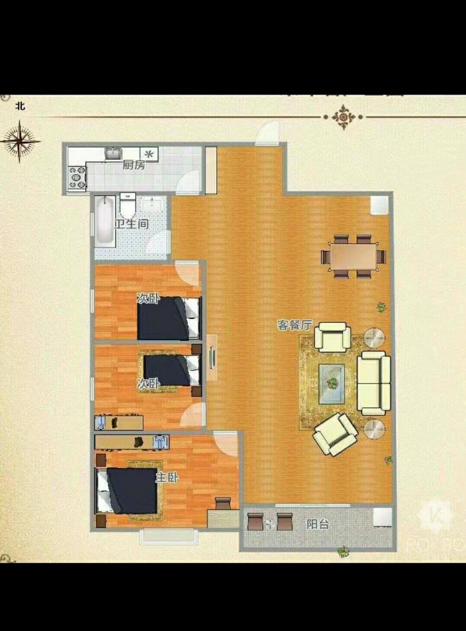 奥园广场3室 2厅 1卫34万元