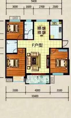 东方城市花园3室 2厅 2卫80万元