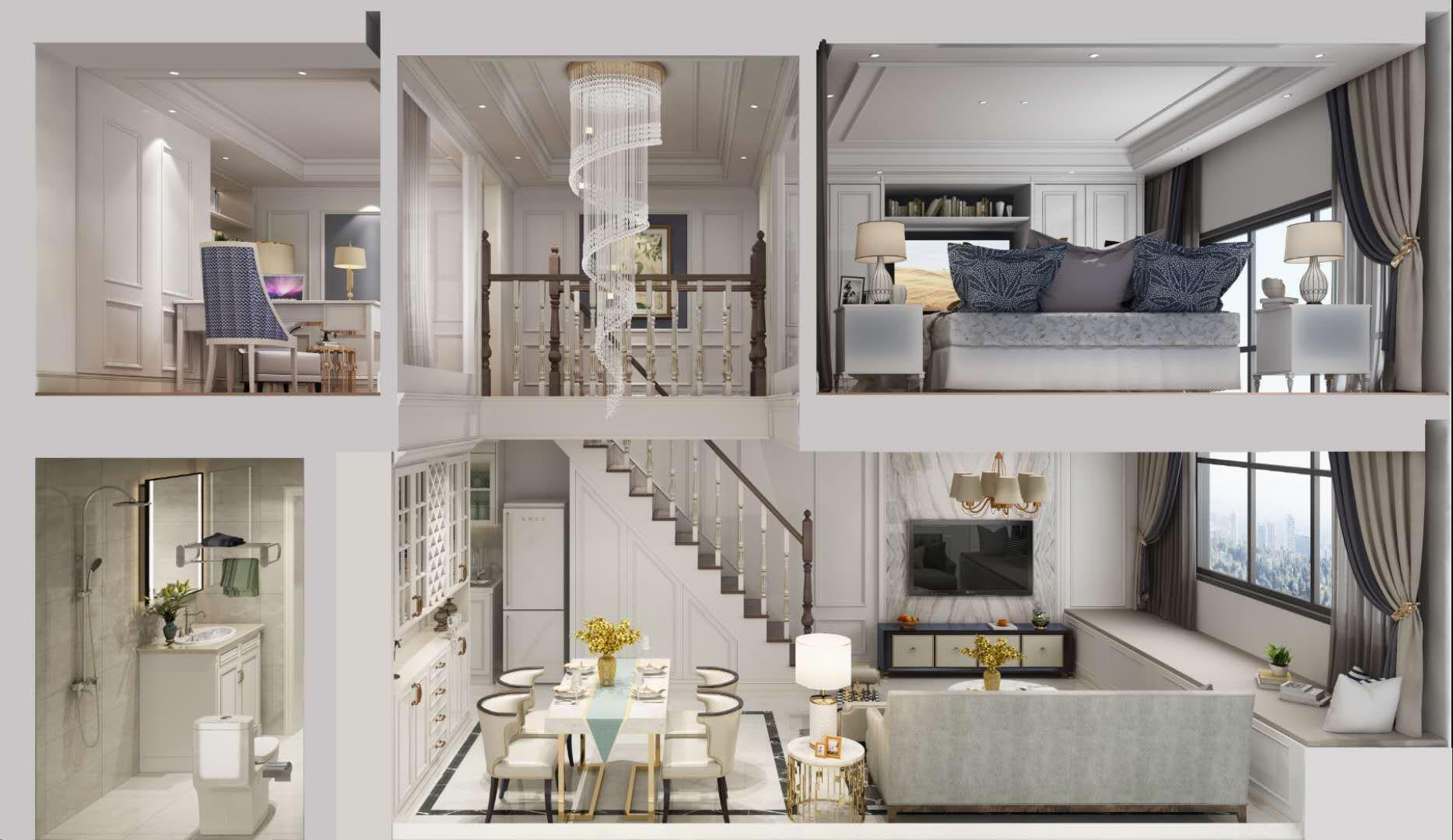 星港城全新公寓五米二挑高,买一套得两套