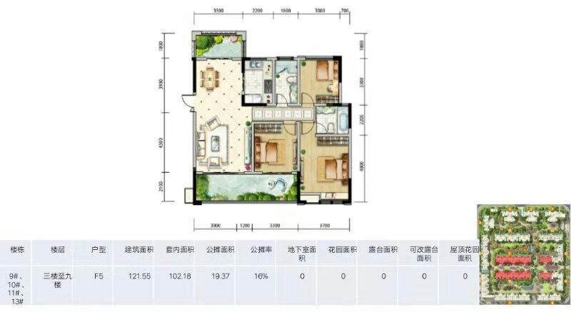 天府金融城3室 2廳 2衛148萬元