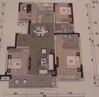 城南新区4室 2厅 2卫82万元