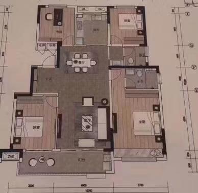 幸福小学洋房一手合同4室 2厅 2卫82万元