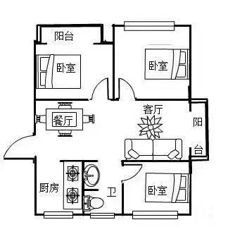 中泉首府3室 2厅 1卫77万元