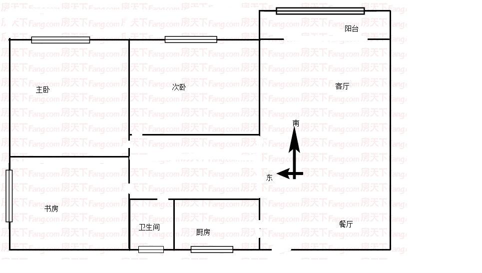 公刘华府3室 2厅 1卫急售