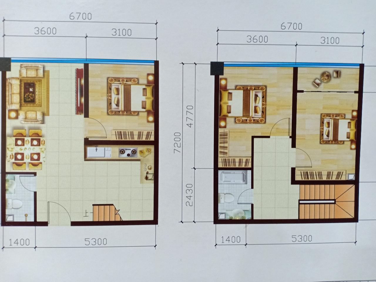 超低首付小户型3室2厅2卫54.8万元