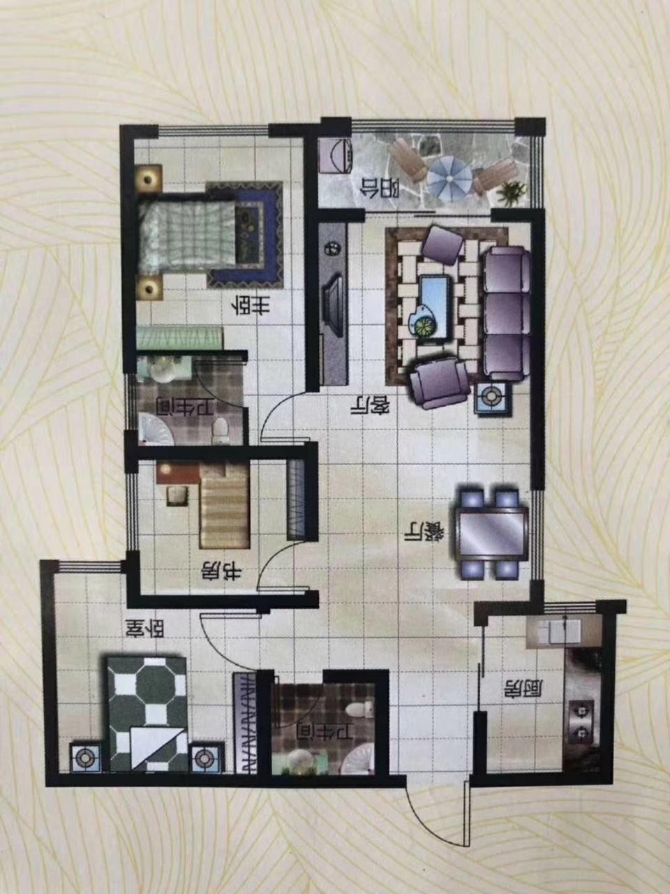 盛安花园3室 2厅 2卫48万元