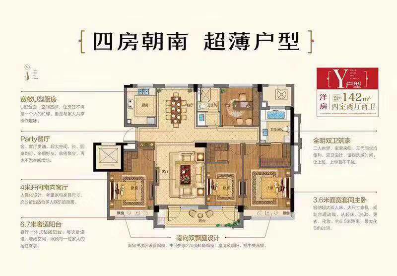 祥生群贤府4室 2厅 2卫137万元