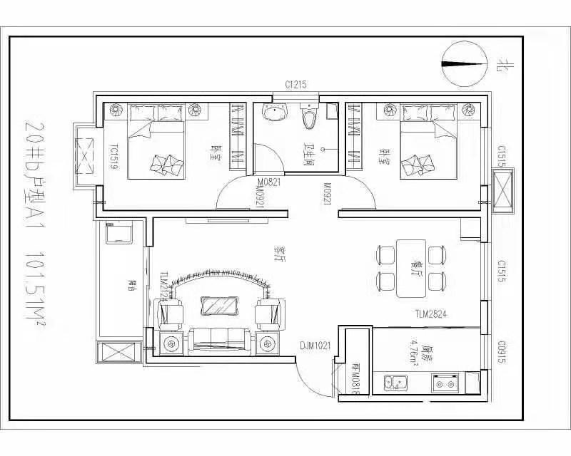 急急急!!!新东城3室 60万元好房好户型
