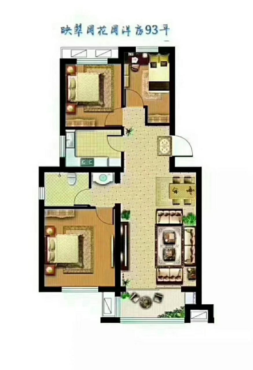 翡翠城映翠園3室 1廳 1衛75萬元