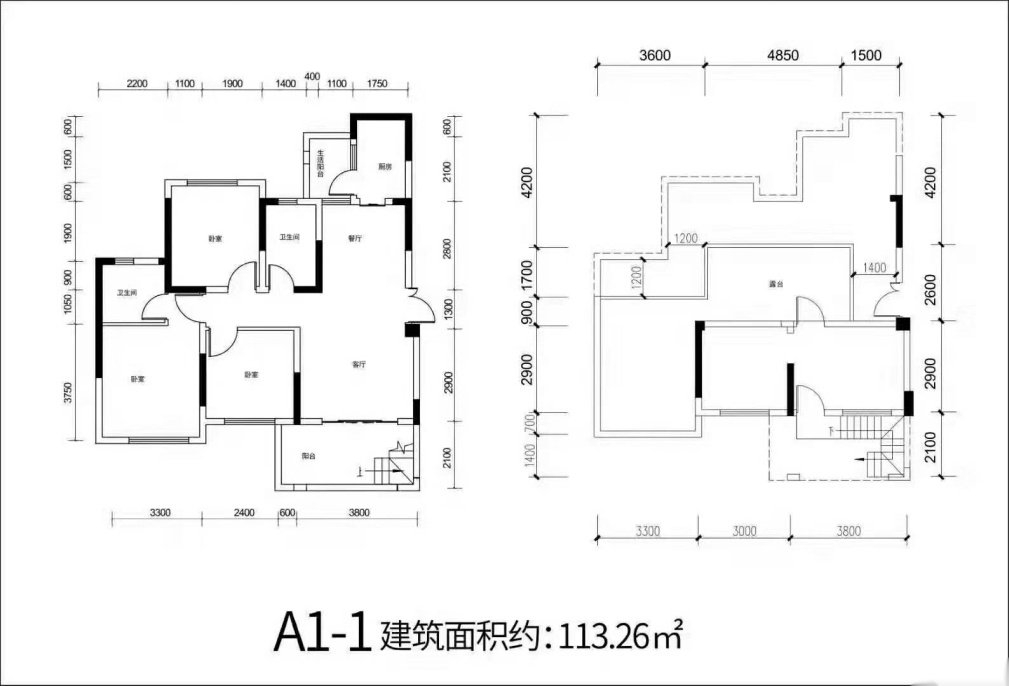 天羿荣耀城3室 2厅 2卫62万元