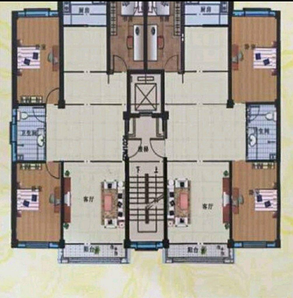 丽景阳光3室 2厅 1卫68.8万元