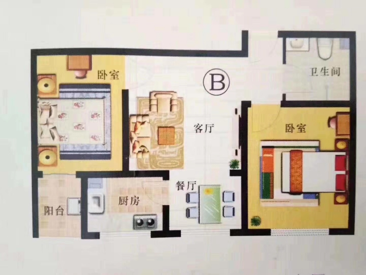 华宇新港湾2室 1厅 1卫59万元