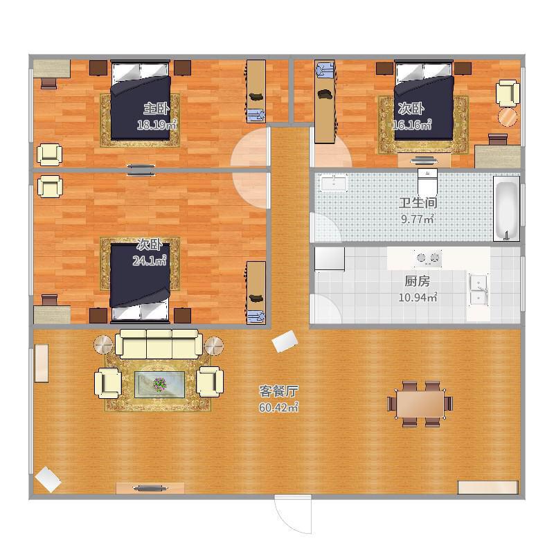 交大绿岭3室 2厅 1卫42万元