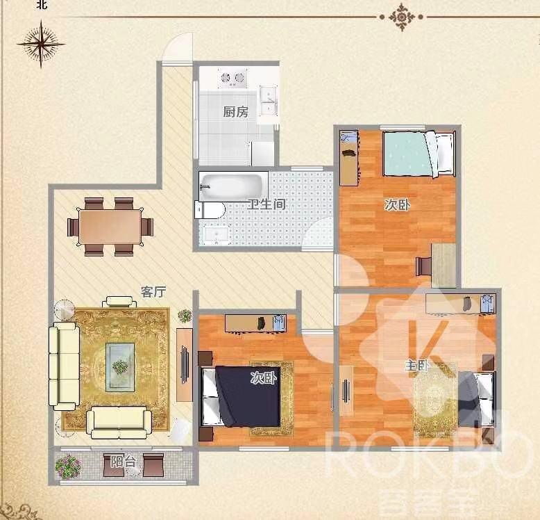 帝景水岸毛坯房3室 2厅 1卫30万元