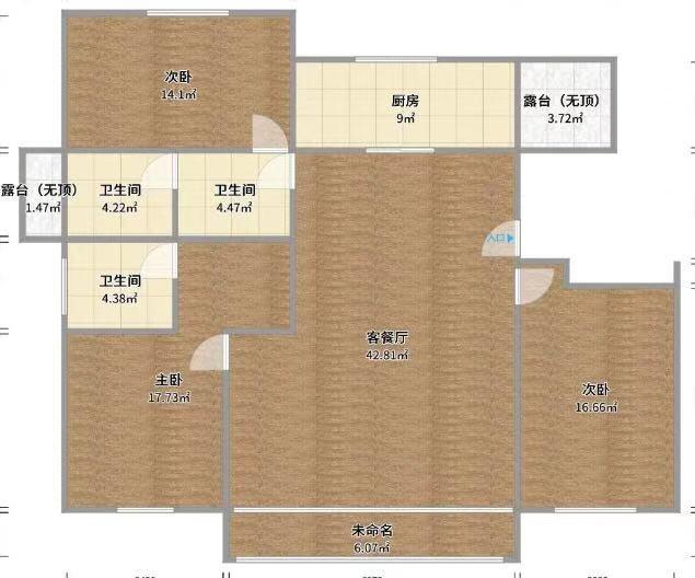 帝景水岸3室 2厅 2卫57万元
