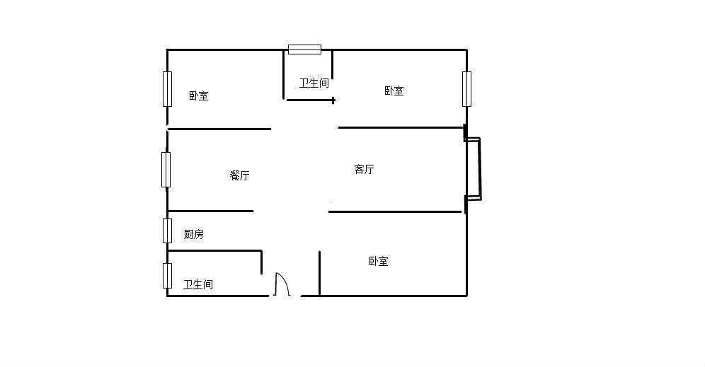 銀苑小區3室 2廳 2衛75萬元