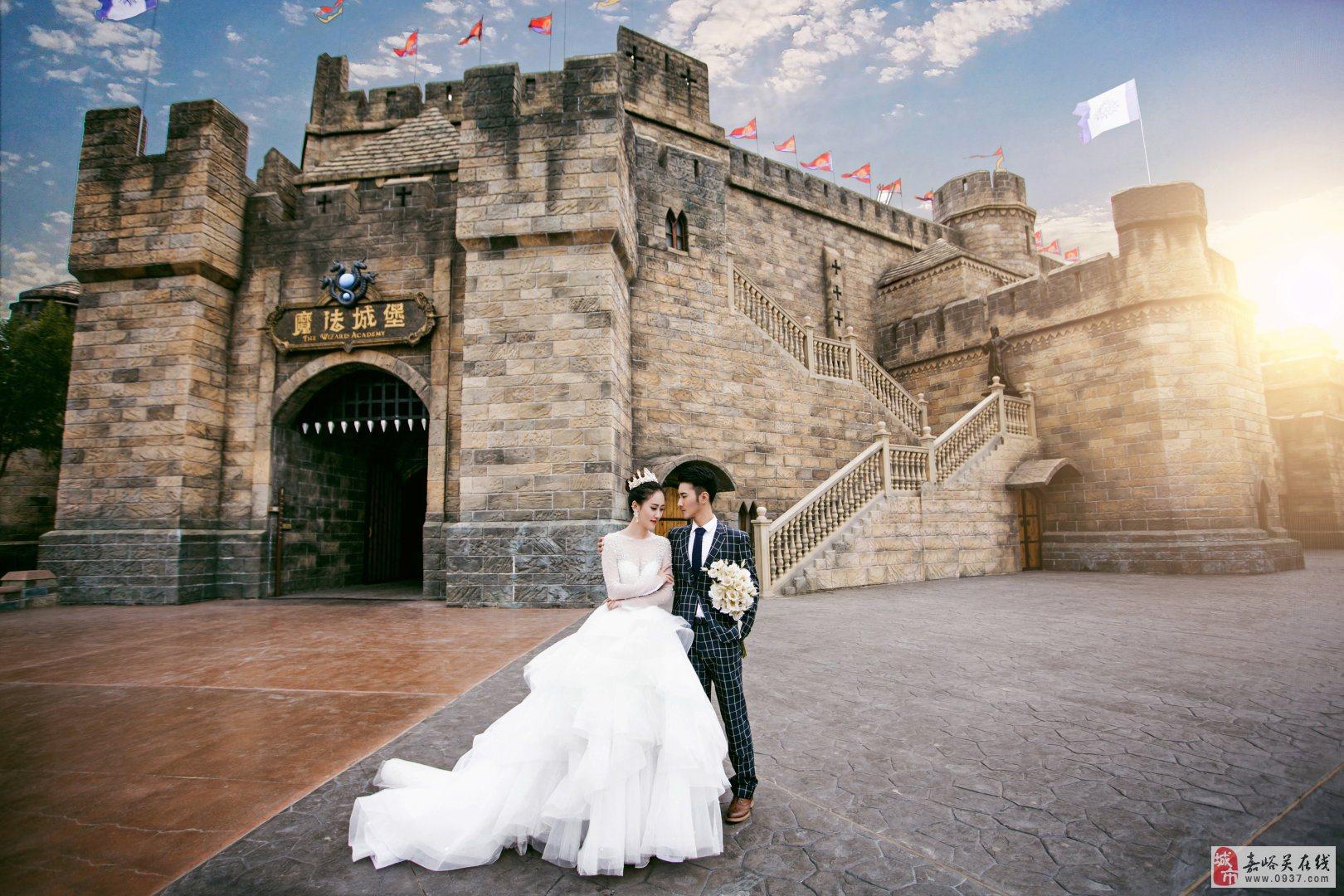 【薇薇新娘】方特城堡童话主题婚纱照 圆你儿时的公主梦