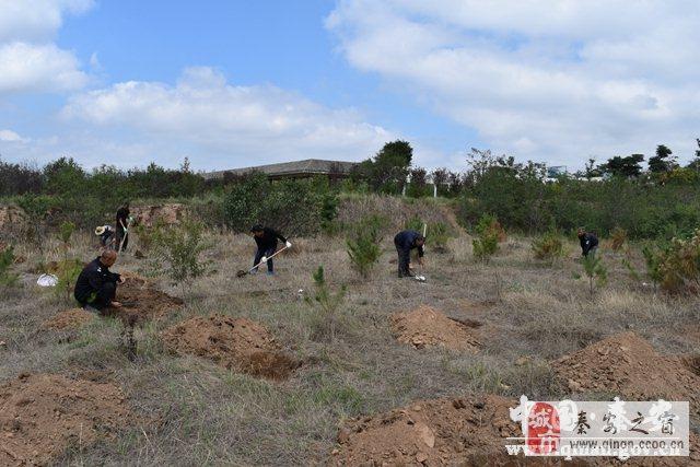 秦安县凤山景区开展秋季植树绿化