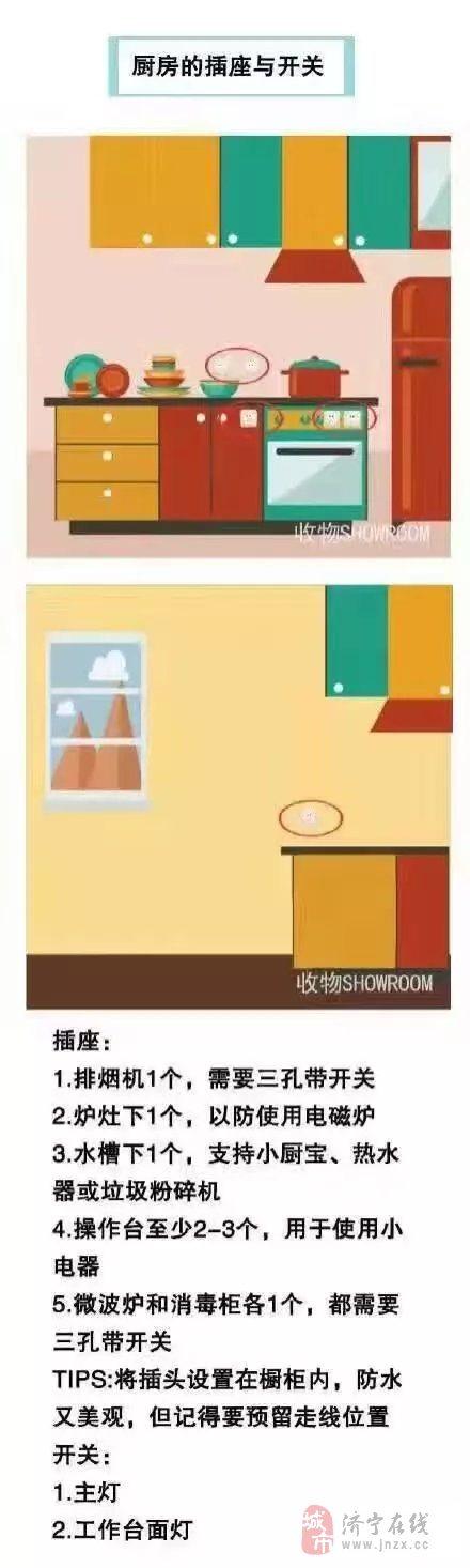家庭中插座开关怎样布置?――济宁江水平装修