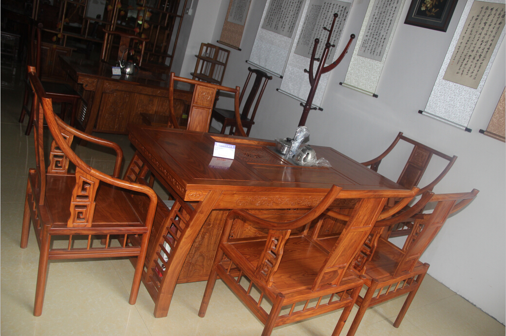 优质红木茶具桌系列