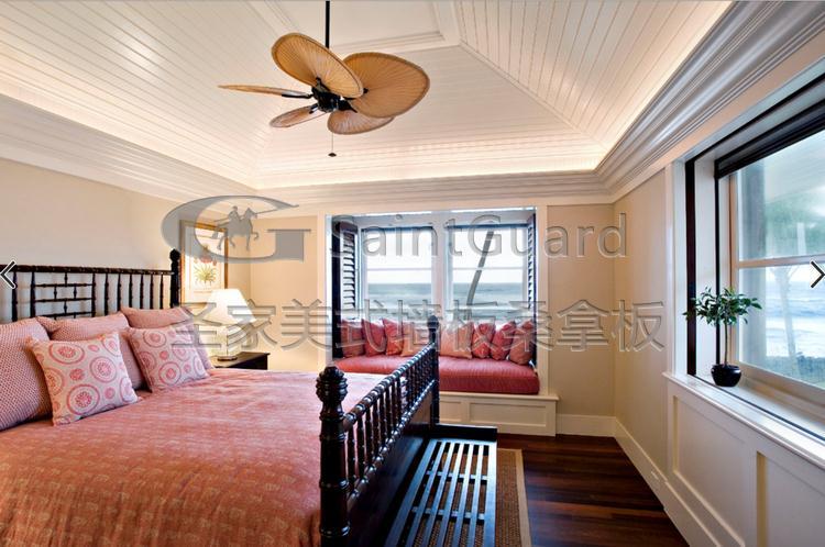生态木美式护墙板欧式防水墙裙护墙板背景墙吊顶免漆