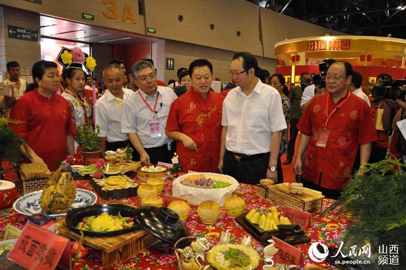 8月26日上午,2016中国(山西)食品餐饮旅游博览会暨首届中国山西面食文化节在太原煤炭交易中心开幕