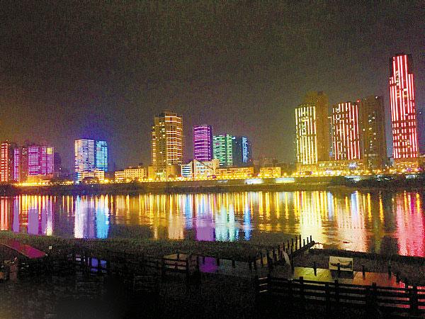 三江半岛以及桃花岛大桥三个视角