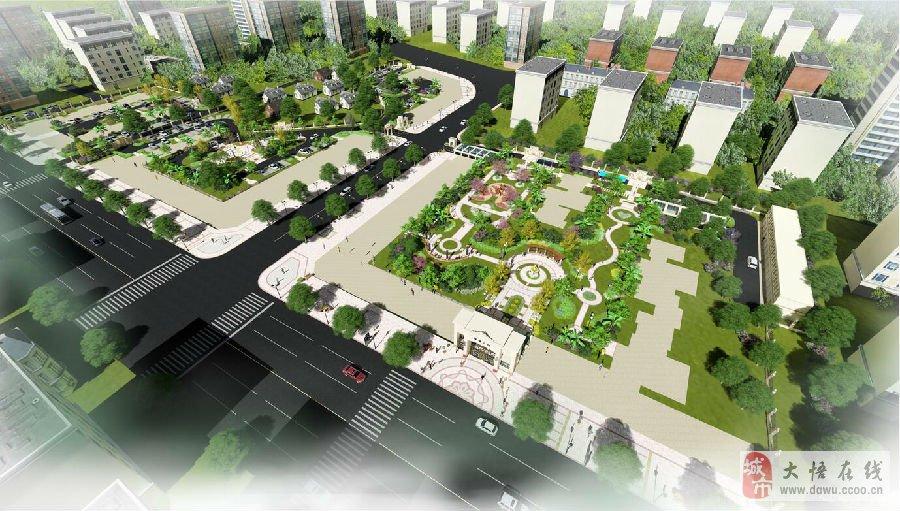 大悟瑞信公馆住宅小区景观方案设计欣赏