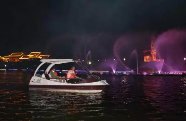大荔县同州湖风景区位于陕西渭南大荔城区段