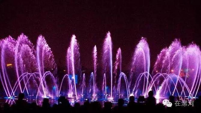 辽宁抚顺月牙岛音乐喷泉