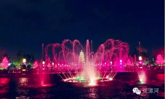 西安大雁塔音乐喷泉