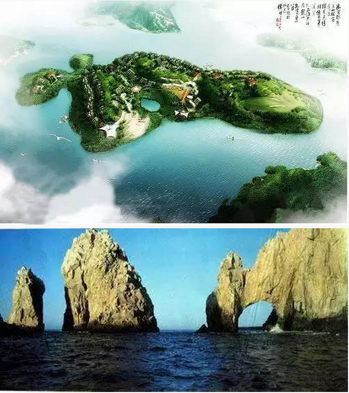 北纬三十度岛地处长阳土家族自治县清江画廊附近,总面积约三十一万八千平方米,是清江流域最大的岛屿。世界地理上神秘的北纬三十度线正好穿越该岛故而得名。北纬三十度线有千年不解之谜,在中国版图的中央,中国-宜昌(三峡)长阳(清江)北岛(北纬三十度岛)就坐落在这条线上。 5 天柱山
